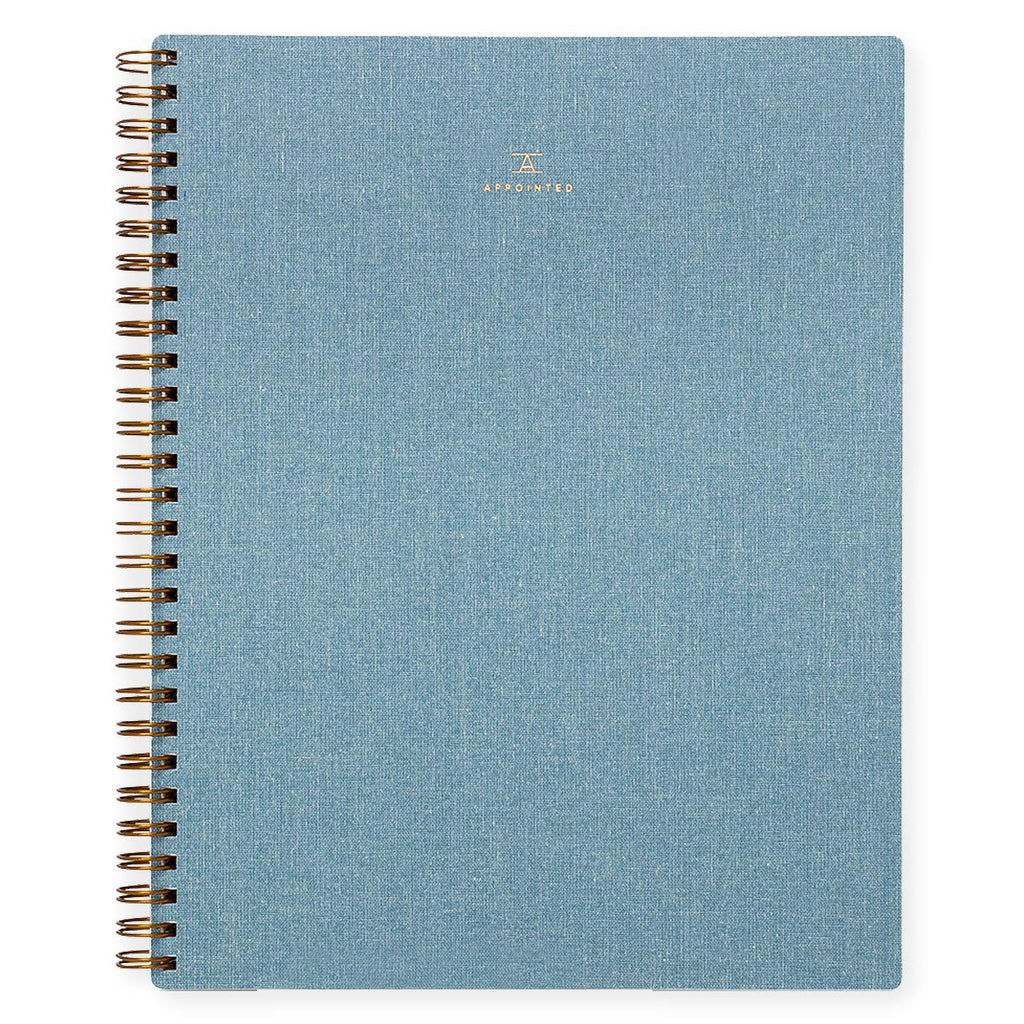 Appointed Chambray Notebook Lined