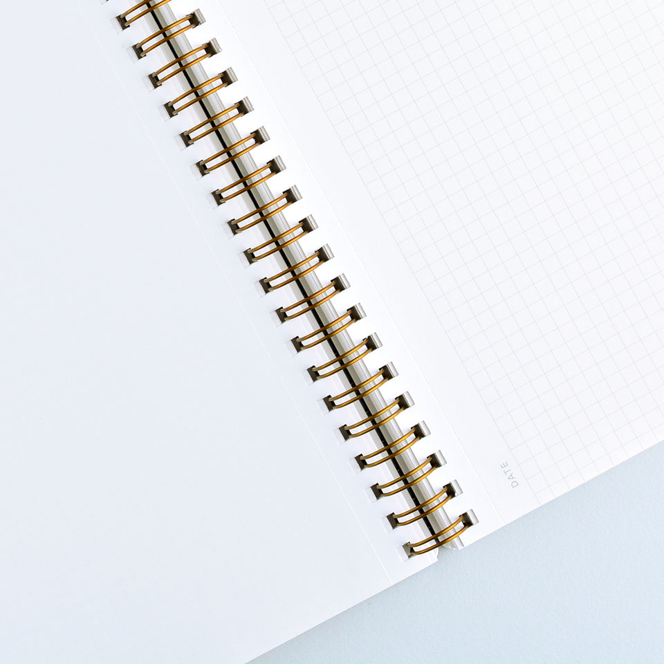 Appointed Charcoal Grey Notebook | Lined or Grid Grid