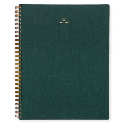 Appointed Hunter Green Notebook Lined - GREER Chicago Online Stationery Shop