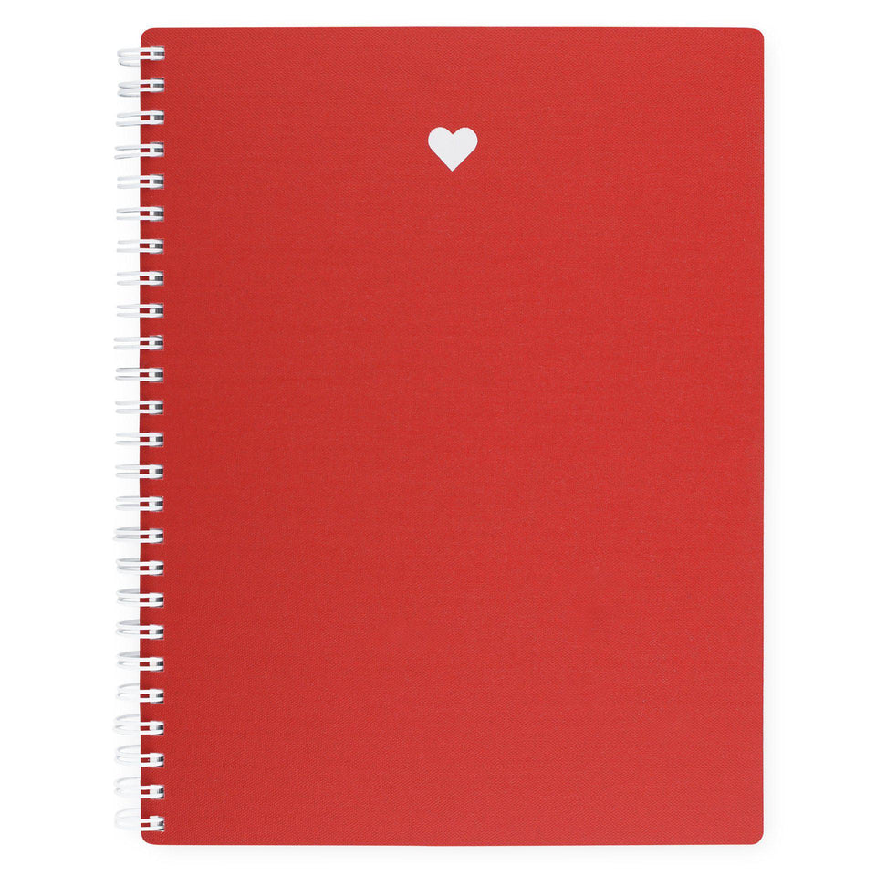 Appointed Appointed Strawberry Heart Red Workbook | Lined or Grid