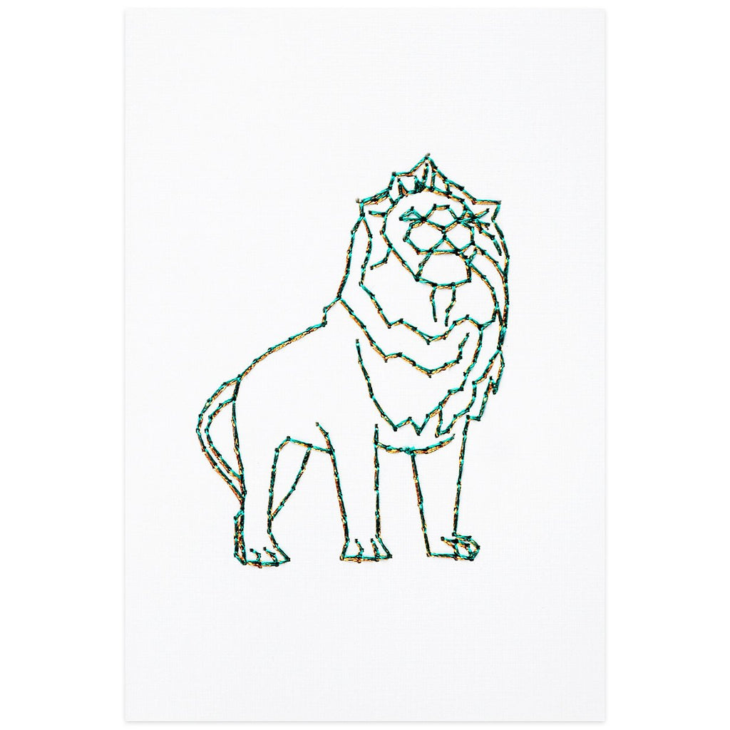 Art Institute of Chicago Lion By Stitched Cards - 1