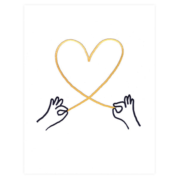 Ashkahn Heart String Greeting Card - GREER Chicago Online Stationery Shop