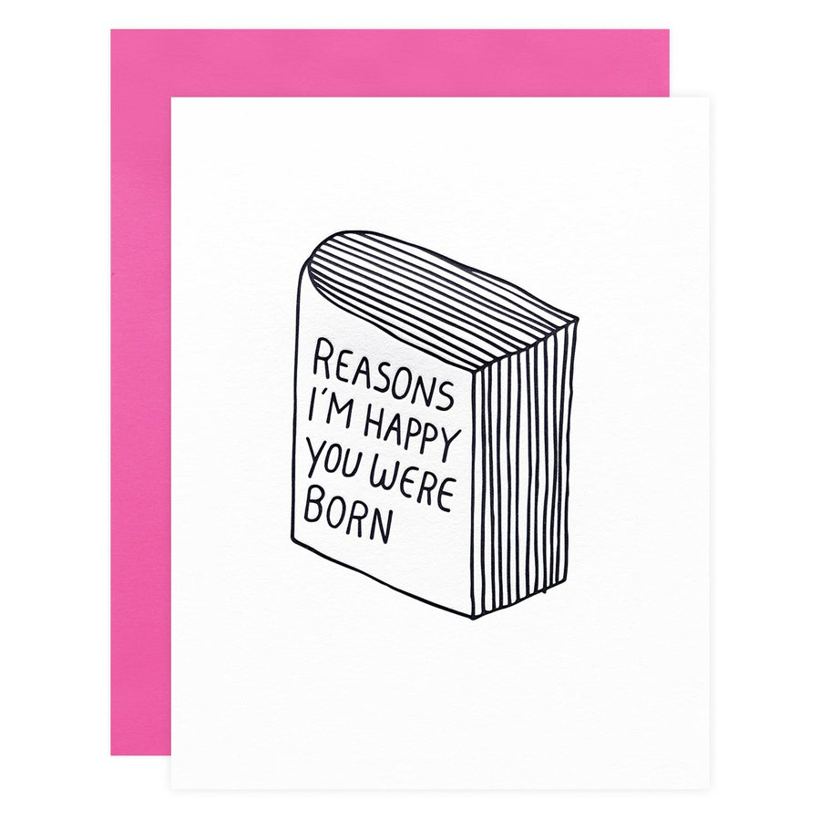Ashkahn Reasons Birthday Card - GREER Chicago Online Stationery Shop