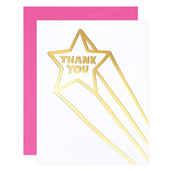 Ashkahn Thank You Star Greeting Card - GREER Chicago Online Stationery Shop