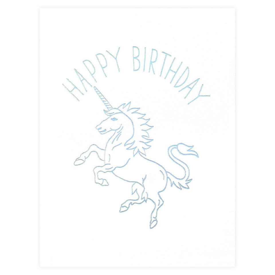 Ashkahn Birthday Unicorn Greeting Card