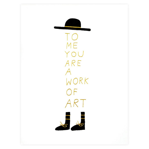 Work of Art Greeting Card - GREER Chicago Online Stationery