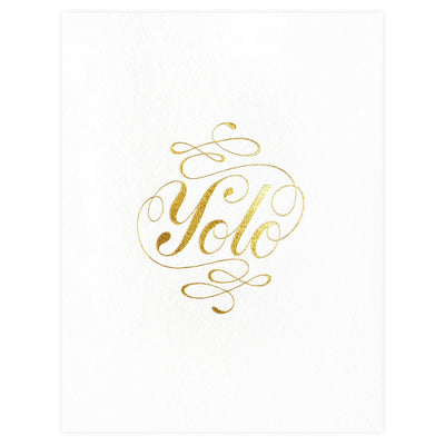 YOLO Greeting Card Ashkahn  - GREER Chicago