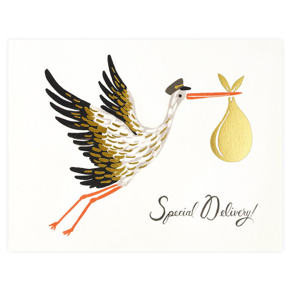 Baby Stork Card - GREER Chicago Online Stationery