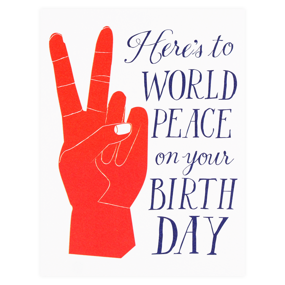 Banquet Workshop World Peace Birthday Card