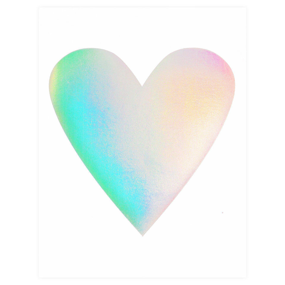 Banquet Workshop Hologram Foil Heart Greeting Card