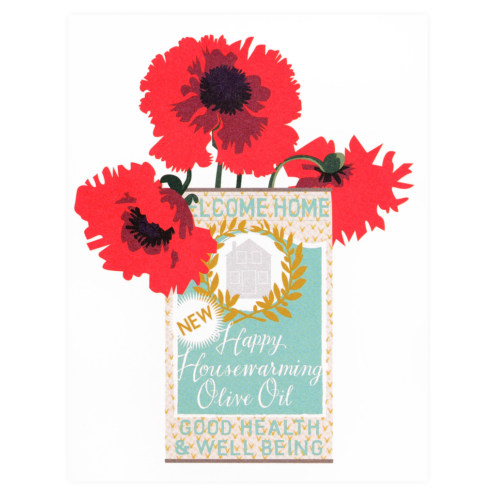 Banquet Workshop Olive Oil Can Housewarming Greeting Card