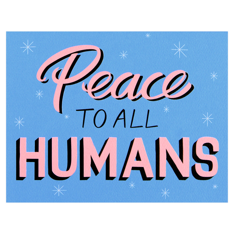 Banquet Workshop Peace to All Humans Holiday Cards Boxed
