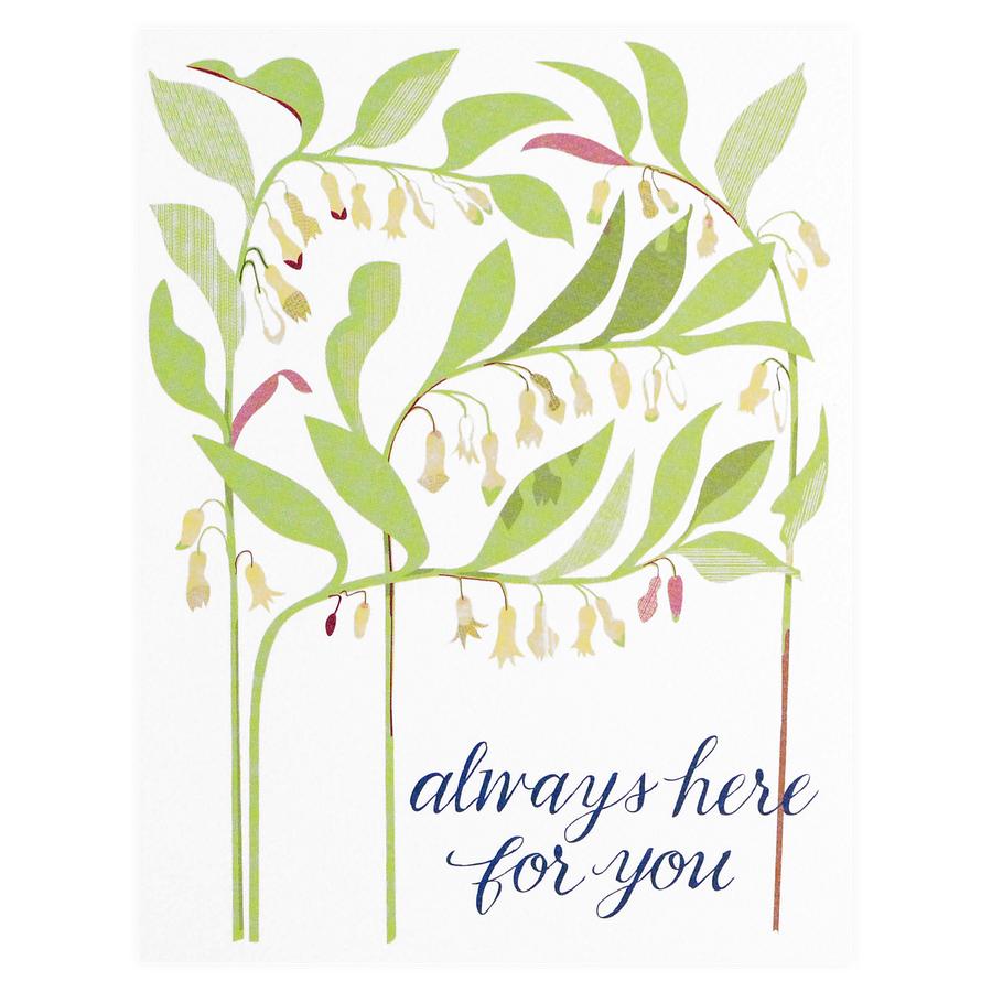 Banquet Workshop Solomon's Seal Sympathy Card