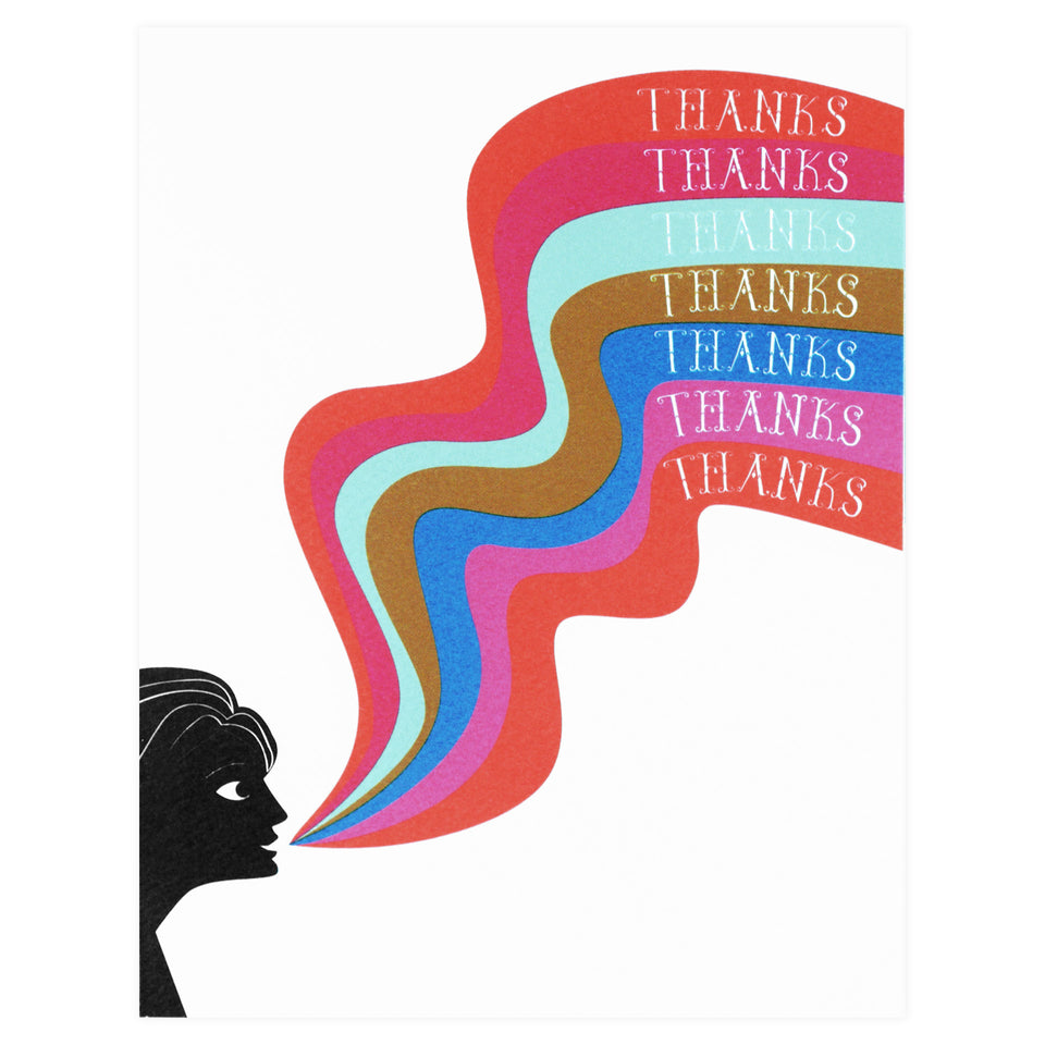 Banquet Workshop Sonic Rainbow Thank You Greeting Card