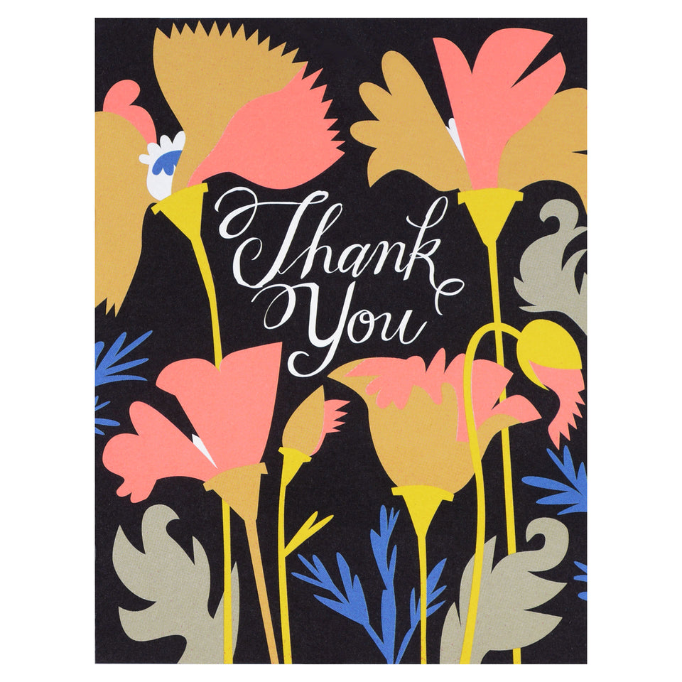 Banquet Workshop Wild California Poppies Thank You Card