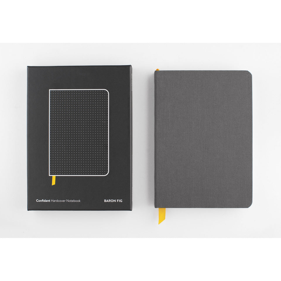 Baron Fig Confidant Dot Grid Notebook Charcoal
