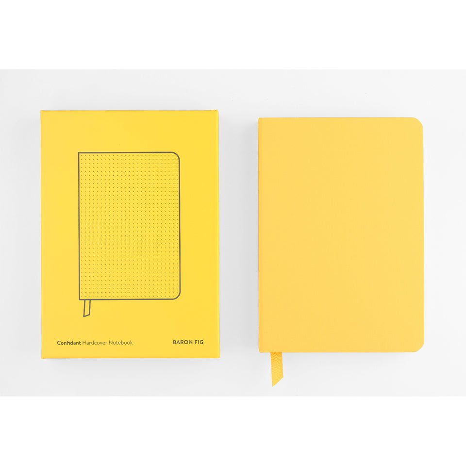 Baron Fig Confidant Dot Grid Notebook Yellowgold