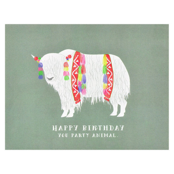 Birthday Yak Greeting Card - GREER Chicago Online Stationery