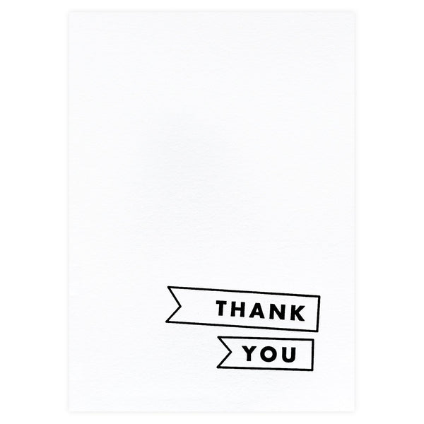 Minimal Flags Folded Thank You Cards Boxed - GREER Chicago Online Stationery