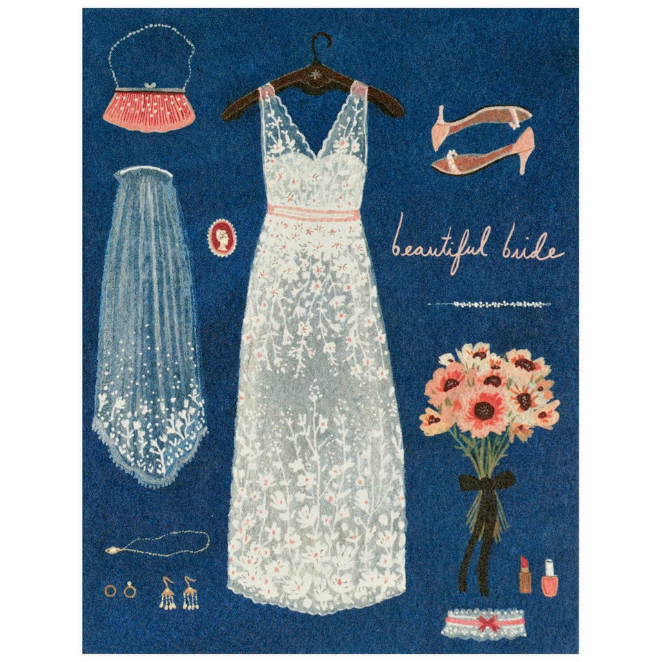 Red Cap Cards Beautiful Bride Card