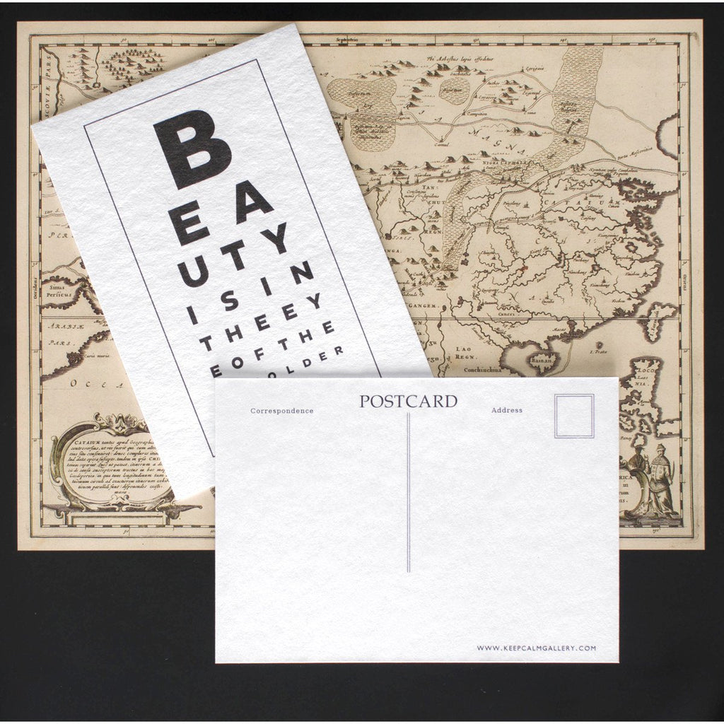 Beauty Eye Chart Postcard By Calm Gallery - 2