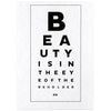 Calm Gallery Beauty Eye Chart Postcard - GREER Chicago Online Stationery Shop