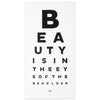 Calm Gallery Beauty Eye Chart Print - GREER Chicago Online Stationery Shop
