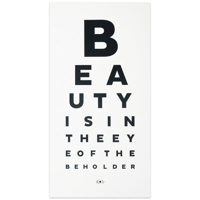 Beauty Eye Chart Print Greer Chicago