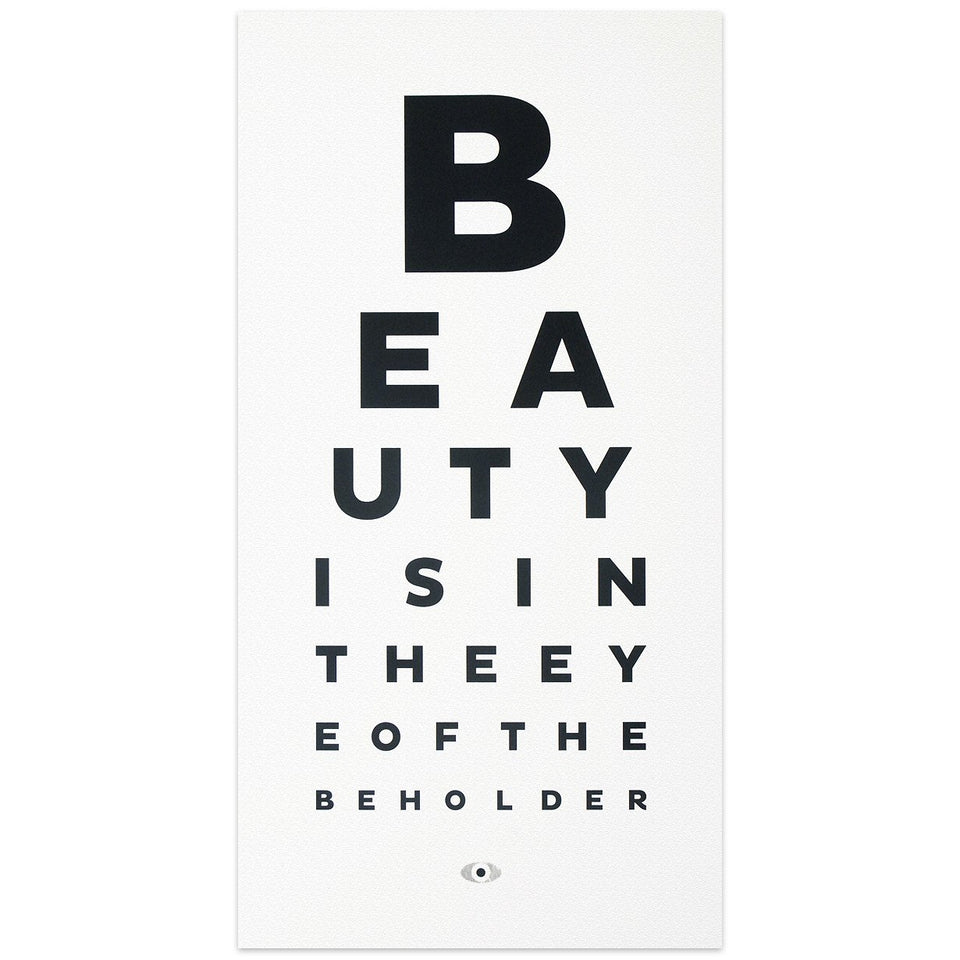 Calm Gallery Beauty Eye Chart Print
