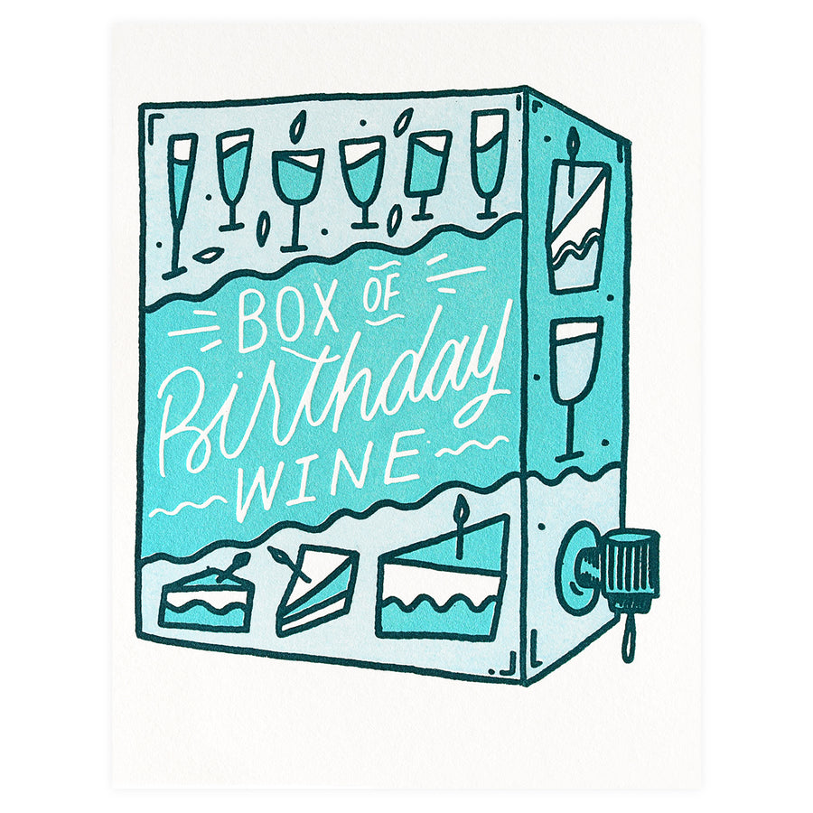 Bench Pressed Box Wine Birthday Card