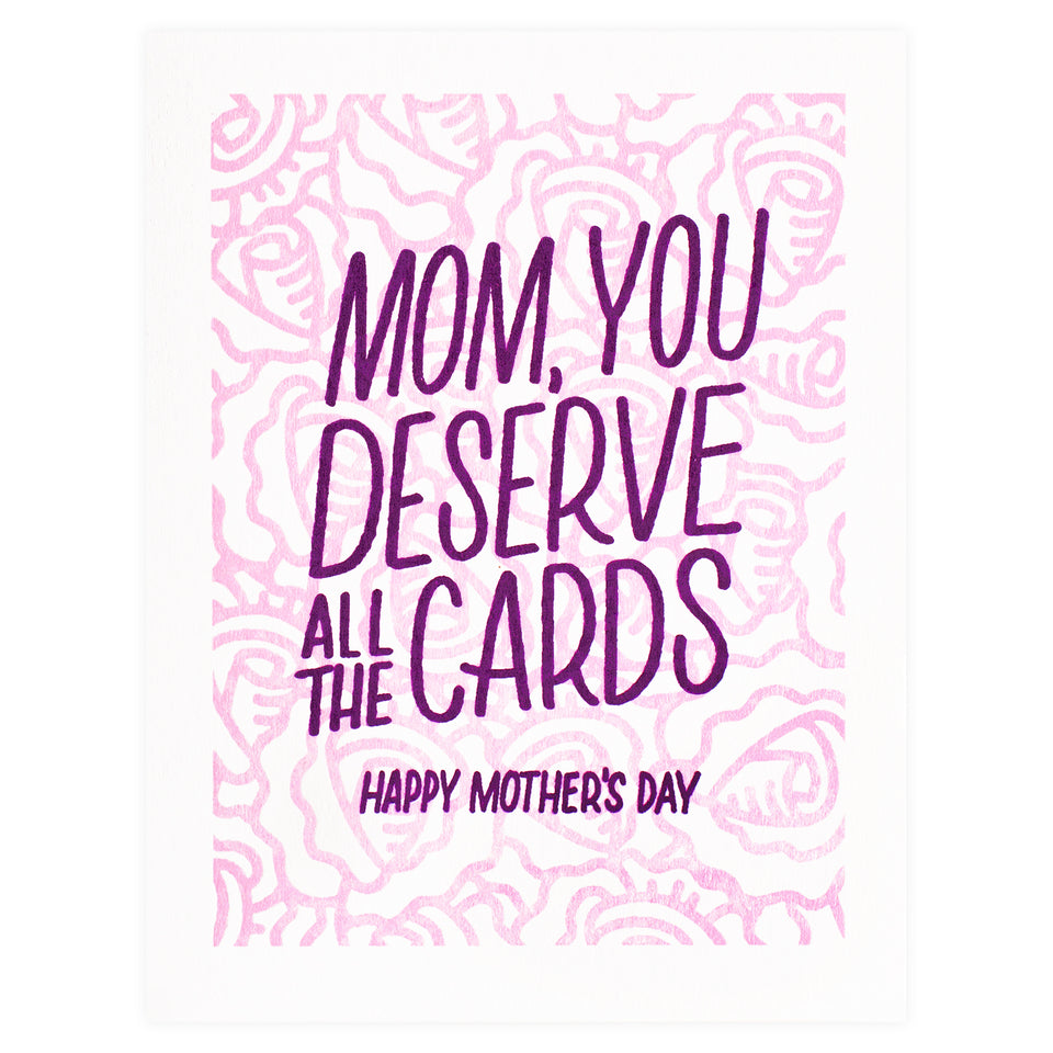 Bench Pressed All the Cards Mother's Day Card