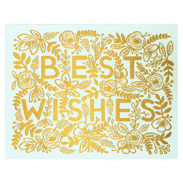 Best Wishes Card By Rifle Paper Co.