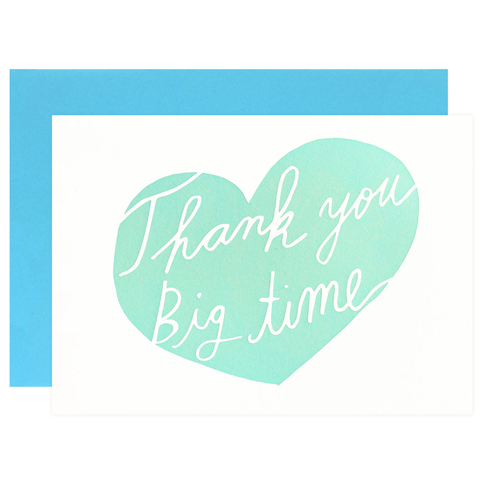 Wolf & Wren Press Thank You Big Time Greeting Card