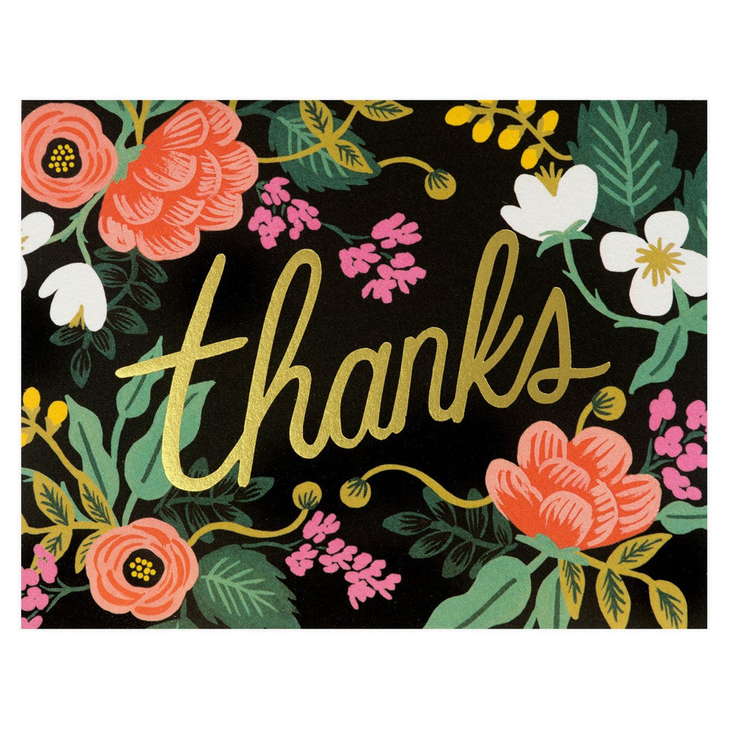 Birch Floral Folded Thank You Card By Rifle Paper Co.