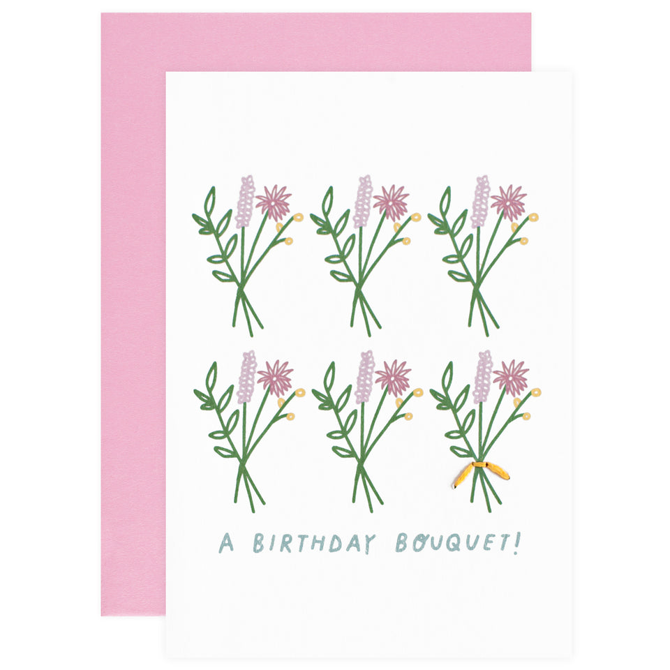 Allie Biddle Birthday Bouquet! Greeting Card