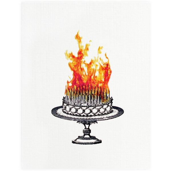 Blingbebe Birthday Cake Inferno Card - GREER Chicago Online Stationery Shop