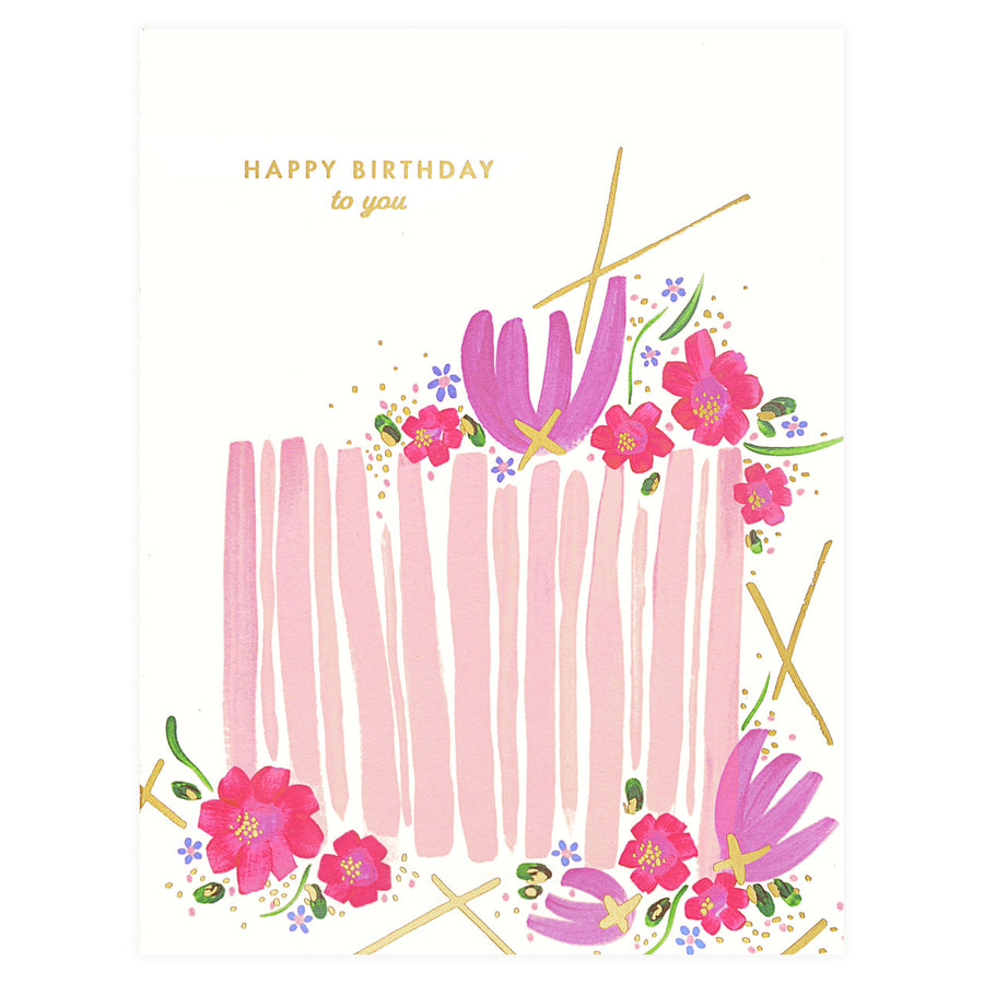 Birthday Cake Greeting Card Snow & Graham  - GREER Chicago