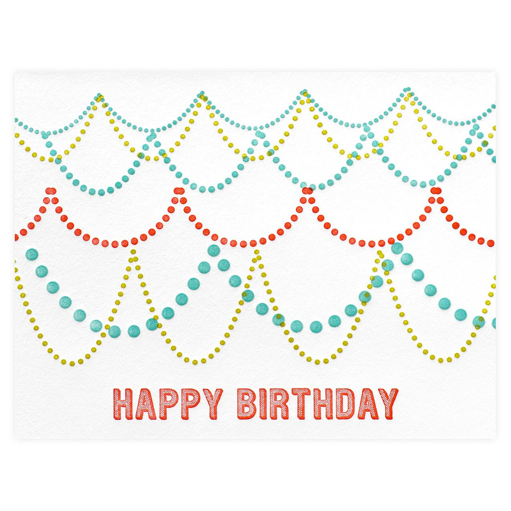 Parrott Design Studio Birthday Garland Card - GREER Chicago Online Stationery Shop