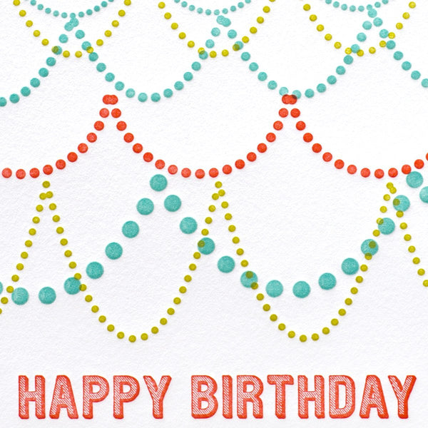 Birthday Garland Card - GREER Chicago Online Stationery