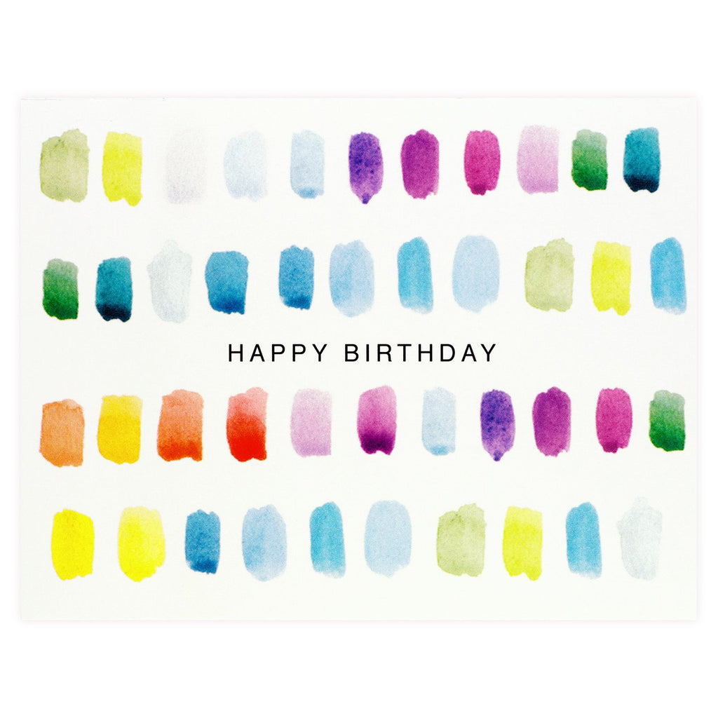 Birthday Paint Strokes Card By Dear Hancock