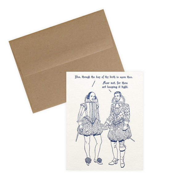Guttersnipe Press Keeping it Tight Shakespeare Birthday Card - GREER Chicago Online Stationery Shop