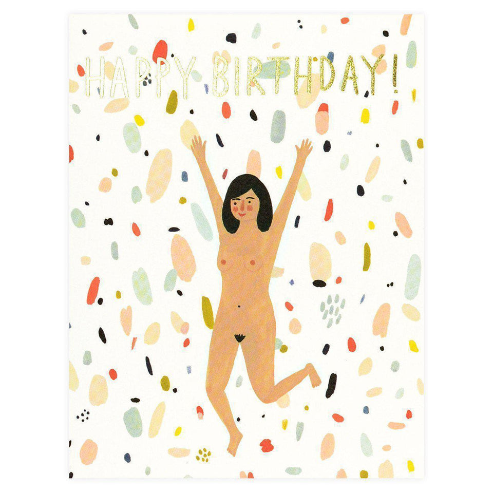 Red Cap Cards Birthday Suit Greeting Card