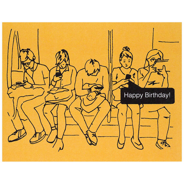 Birthday Texts Card - GREER Chicago Online Stationery