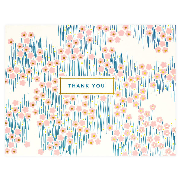 Snow & Graham Bitsy Folded Thank You Card - GREER Chicago Online Stationery Shop
