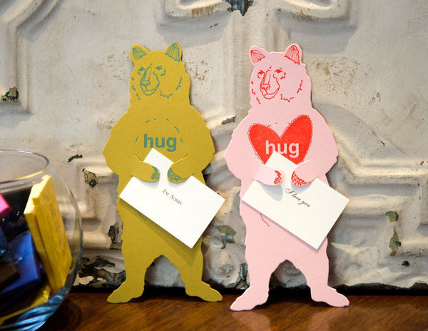 Bear Hug Card - GREER Chicago Online Stationery