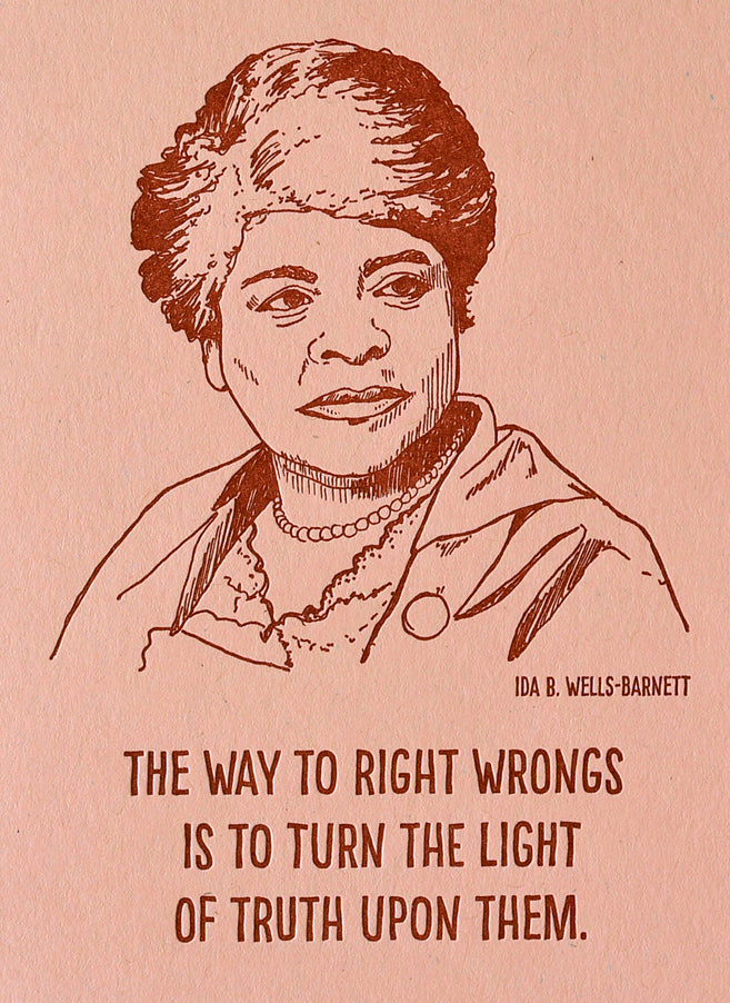 Blackbird Letterpress Ida B. Wells Letterpress Printed Notebook