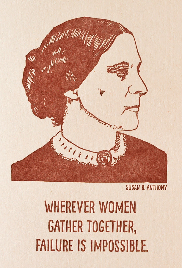 Blackbird Letterpress Susan B. Anthony Letterpress Printed Notebook