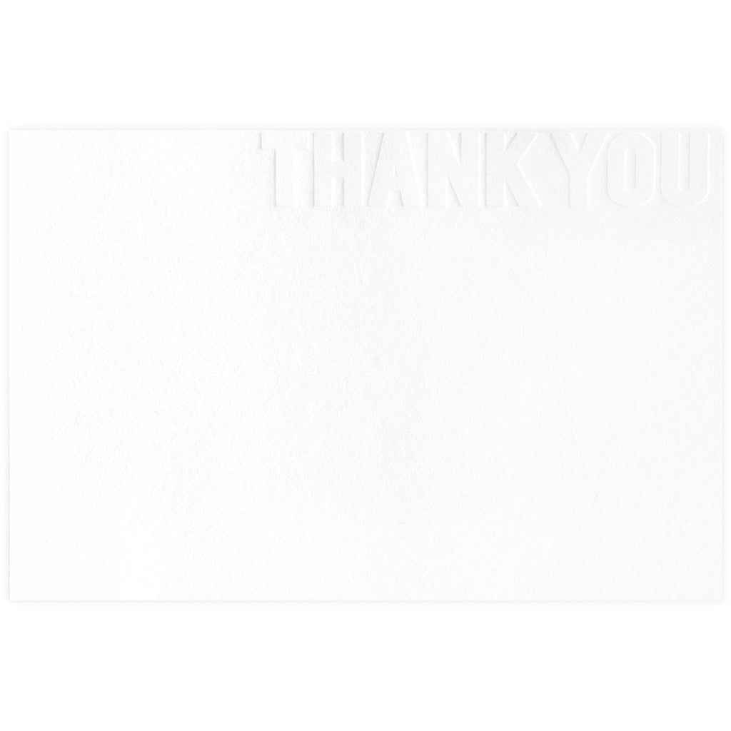 Blind Letterpress Thank You By SMOCK