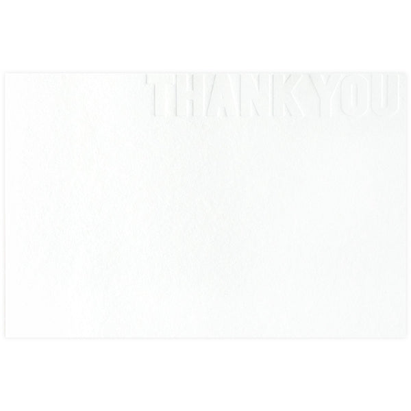 Blind Letterpress Thank You - GREER Chicago Online Stationery
