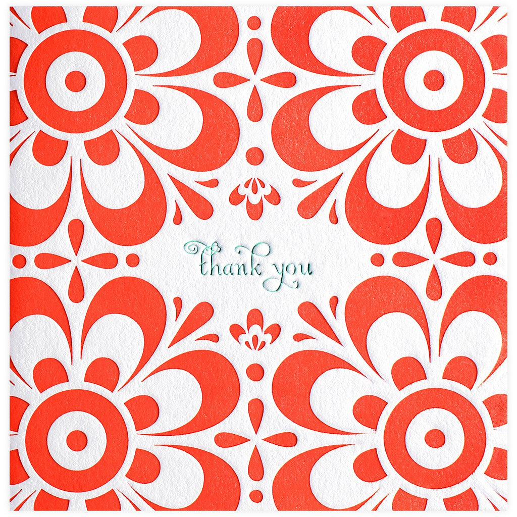 Bloom Thank You Card - GREER Chicago Online Stationery